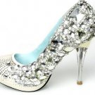 swarovski crystals and rhinestone shiny wedding shoes S017