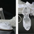 swarovski crystals and lace wedding shoes S018
