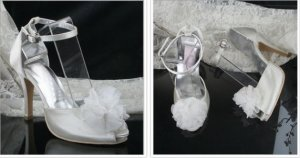 swarovski crystals and leather wedding shoes S024