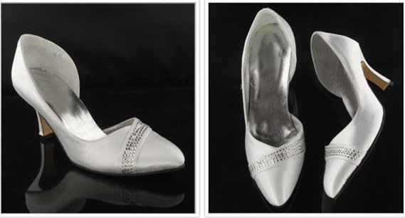 swarovski crystals and leather wedding shoes S025