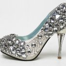 swarovski crystals and rhinestone bridal shoes S033