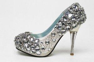 swarovski crystals and rhinestone bridal shoes S033