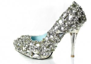 swarovski crystals and rhinestone bridal shoes S034