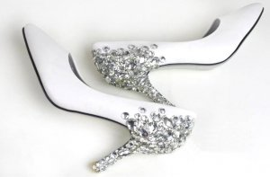 swarovski crystals and rhinestone bridal shoes S036