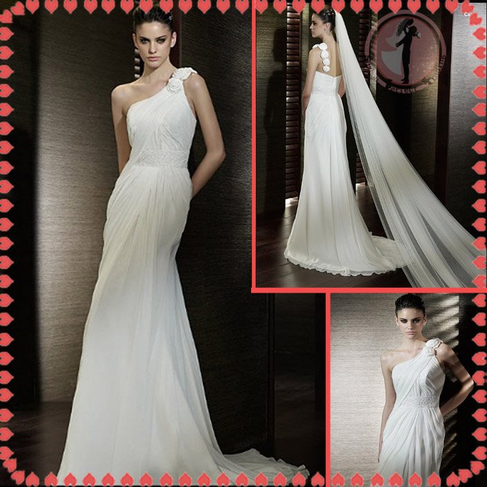 Free shipping latest style lace wedding dress 2012 EC372