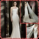 Free shipping ruffle chiffon wedding dress 2012 EC373