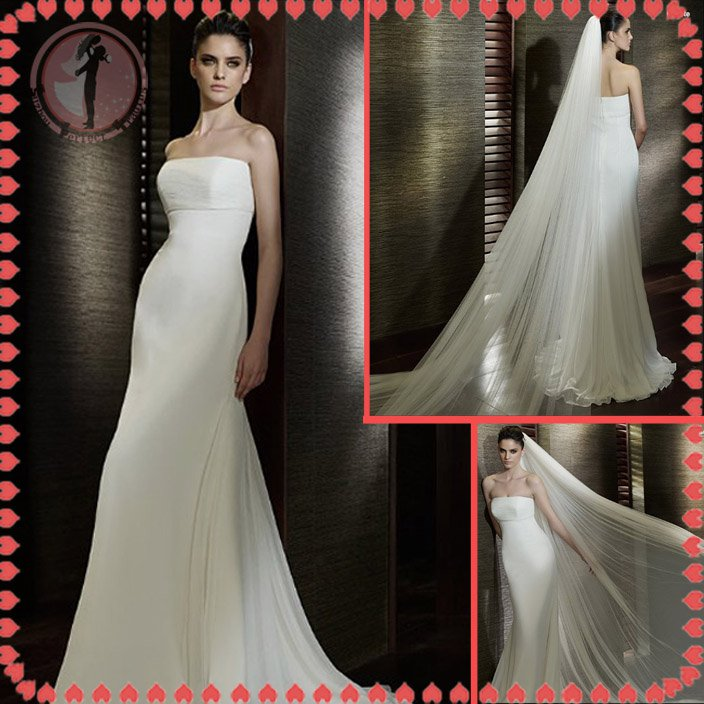 Free shipping the most popular beach wedding dress 2012 EC381