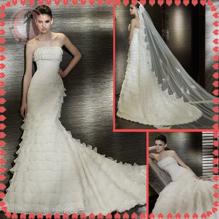 Free shipping the most popular 2012 wedding dress EC388