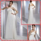 Free shipping the most popular beach one shoulder 2012 wedding dress EC389