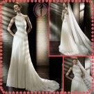 Free shipping maggie sottero high neckline 2012 wedding dress EC391