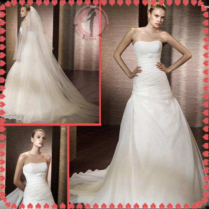 Free shipping organza 2012 bridal wedding dress EC392