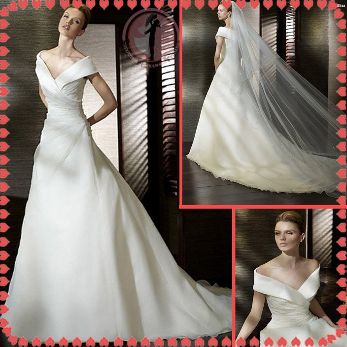 2012 off shoulder bridal mermaid wedding dress EC397