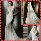 2012 new style off shoulder lace silver satin wedding dress EC403