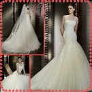 2012 new style off shoulder shoulder silver satin lace wedding dress EC409