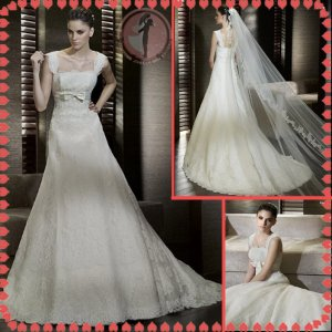 2012 new model bridal lace wedding dress EC417