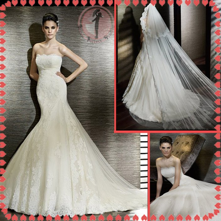 2012 new model bridal sexy wedding dress EC422