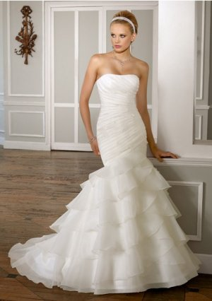 2012 new model one shoulder bridal crystal mermaid wedding dress EC433