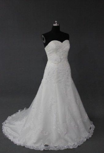 EC480 new fashion stylish strapless lace wedding dress 2013