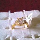 Rhinestone Cubic Zirconia Ring!