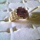 Large Lavender Rhinestone Ring!