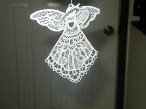 3D Lace Guardian Angel - Your choice of colors
