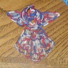 3D Lace Embroidered Patriot Angel