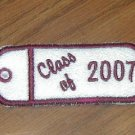 Embroidered CLASS OF Chapstick or Lighter Holder Keychain