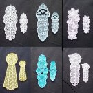 Choice of Monthly Embroidered Lace Year of Bookmarks Set of Large and Small
