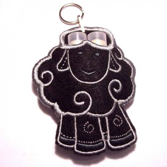Baa Baa Black sheep - lipbalm, usb, breath mint holder keychain