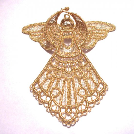 Embroidered Metallic Lace 3D Angel