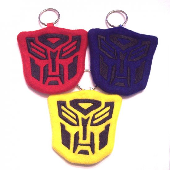 Embroidered TransRobot Coin Pouch keychain