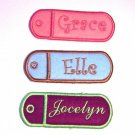 Personalized Key Chain Chapstick or Lighter Holder