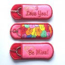 Valentine Lip Balm, USB or Breath Mint Holder Keychain or Backpack Clip