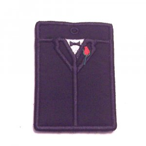 Embroidered Tuxedo Gift Card or Business card Holder Key chain