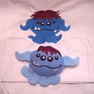 Embroidered Monster Pillowcase and Stuffie Set
