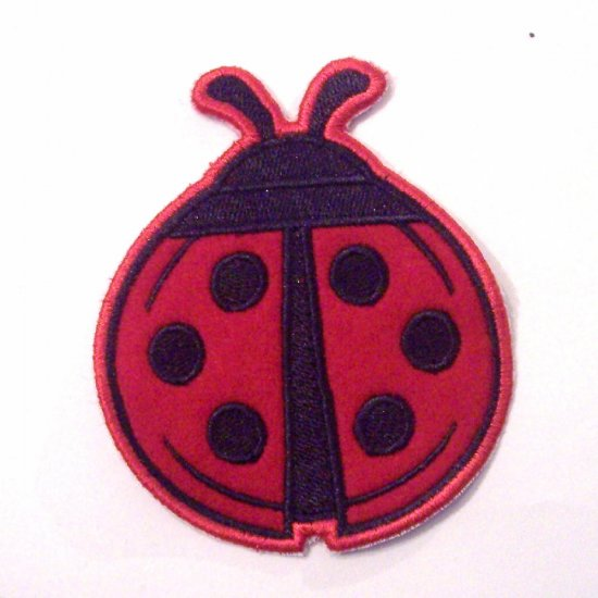 Embroidered Ladybug Iron on Patch