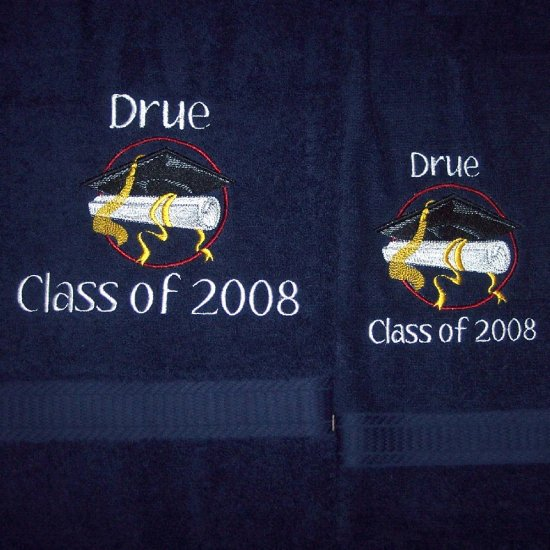 Personalized Embroidered Towel Set