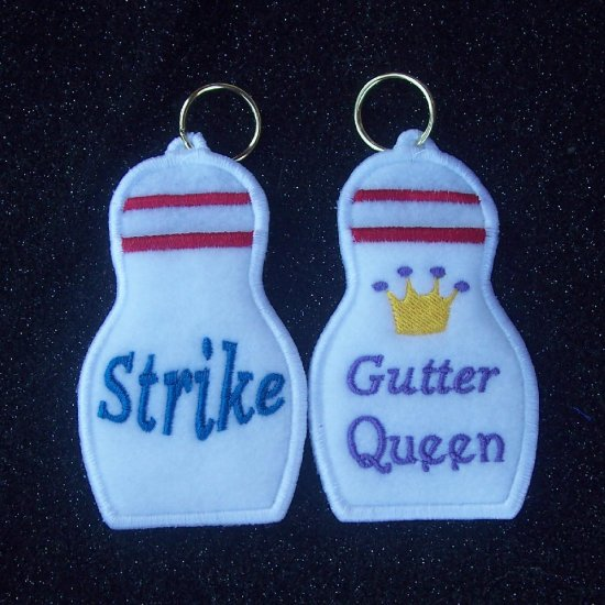 Bowling Pin Lip Balm/USB/Lighter holder keychain
