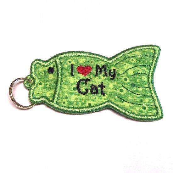 I Heart my Cat USB/Lip Balm/Lighter Holder Keychain