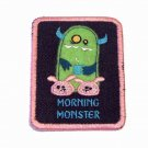 Morning Monster Embroidered Denim Iron on Patch