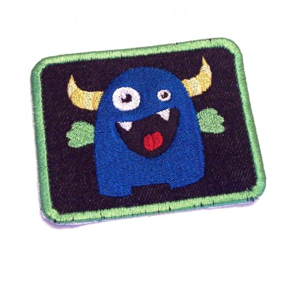 Monstrous Love Monster Embroidered Denim Iron on Patch