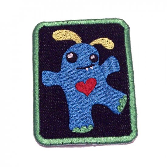 Dorrie Monster Embroidered Denim Iron on Patch