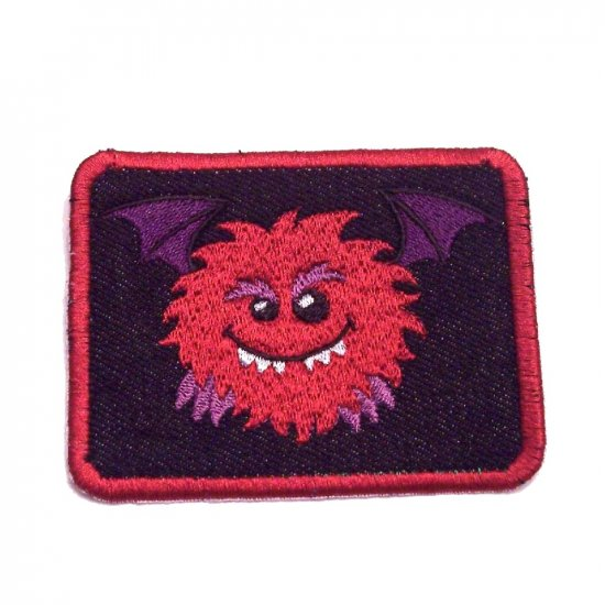 Ralph Monster Embroidered Denim Iron on Patch