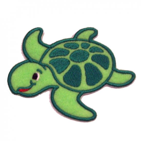 EMBROIDERED SEA TURTLE APPLIQUED PATCH