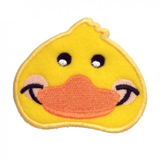 EMBROIDERED BABY DUCK FACE PATCH