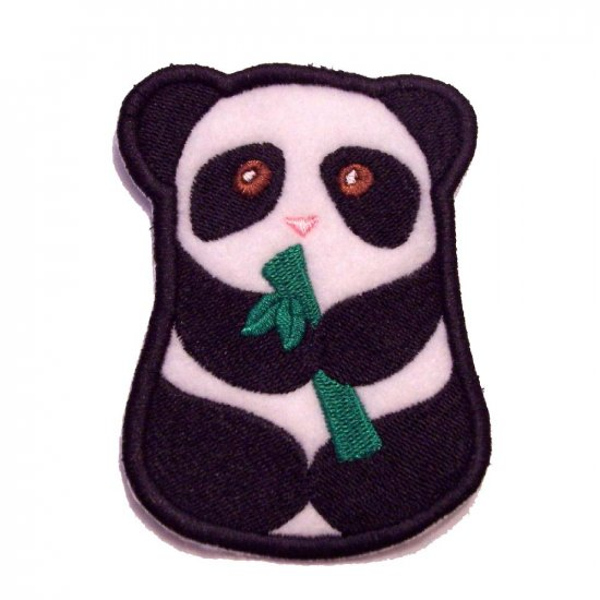 Panda with Bamboo Iron on Patch