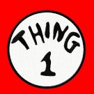 "Thing Embroidered Iron on 4"" Patches"