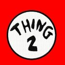 "Thing Embroidered Iron on 5"" Patches"