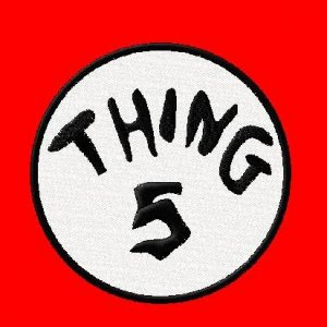 """Thing Embroidered Iron on 5.5"""" Patches"""