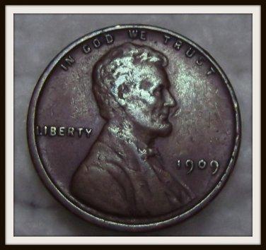 1909 VDB 1C BN Lincoln Cent (VF)